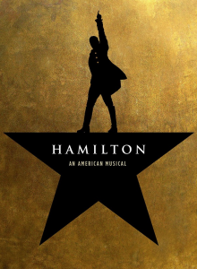 Yes, I know this the Hamilton musical logo and not the cover of the original book, but I don't care.