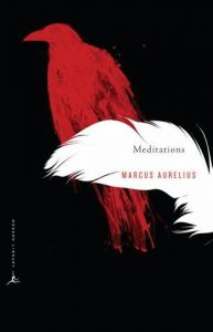 The cover of Meditations by Marcus Aurelius, translated by Gregory Hays