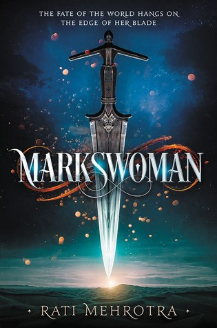 """The cover to """"Markswoman"""", the debut novel of Rati Mehrotra"""